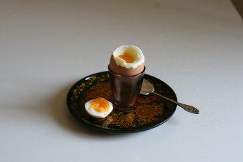 1632. Яйца в мешочек (в скорлупе)