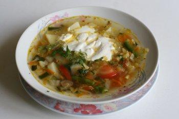 468. Суп из разных овощей
