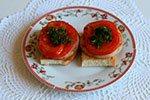 418. Хлеб с жареной ветчиной и помидорами
