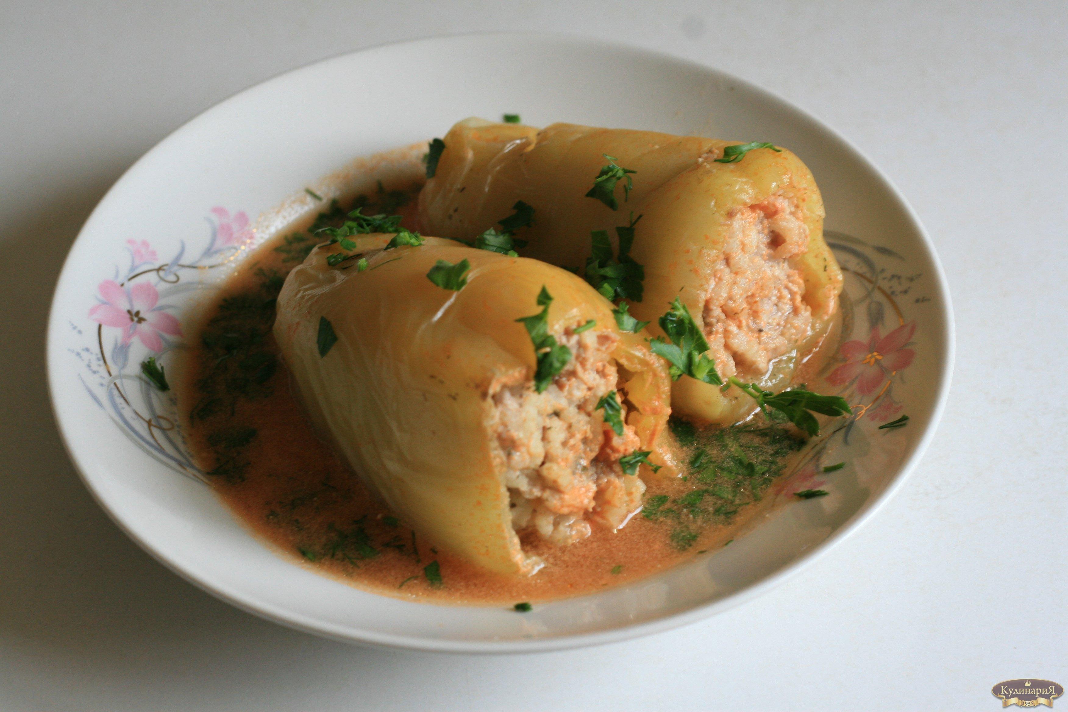 Рецепт фаршированных перцев с мясом без риса