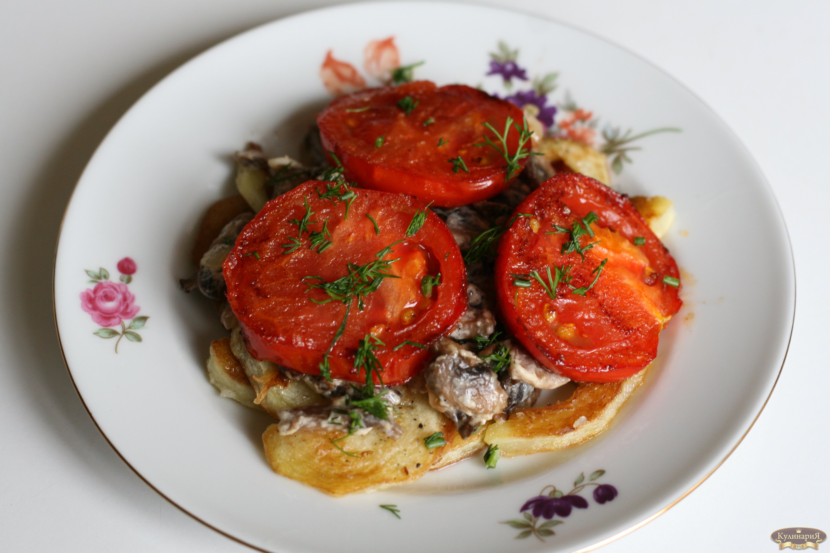 Рецепт жареных кабачков в томате
