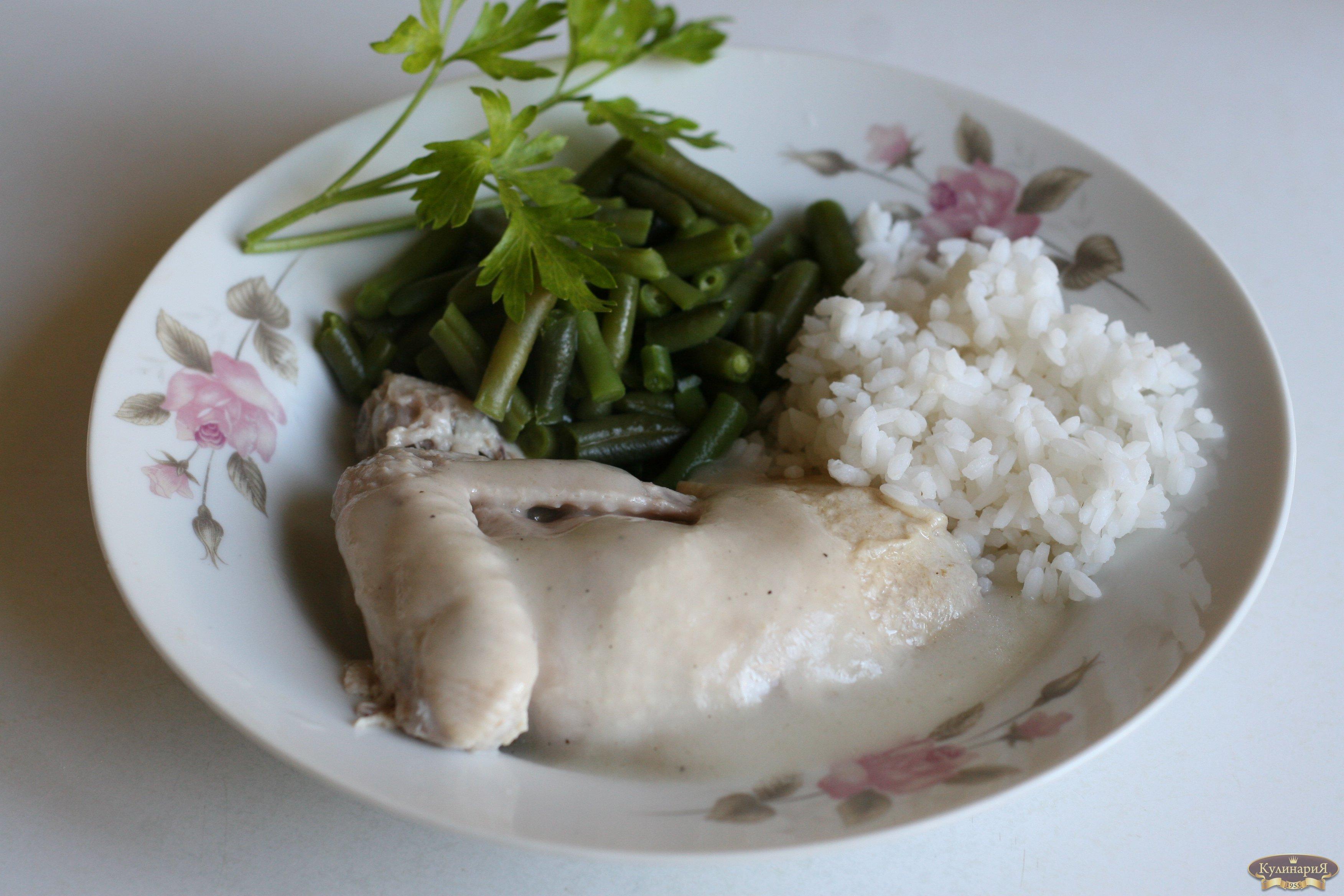 Куриная грудка с гарниром рецепт 2