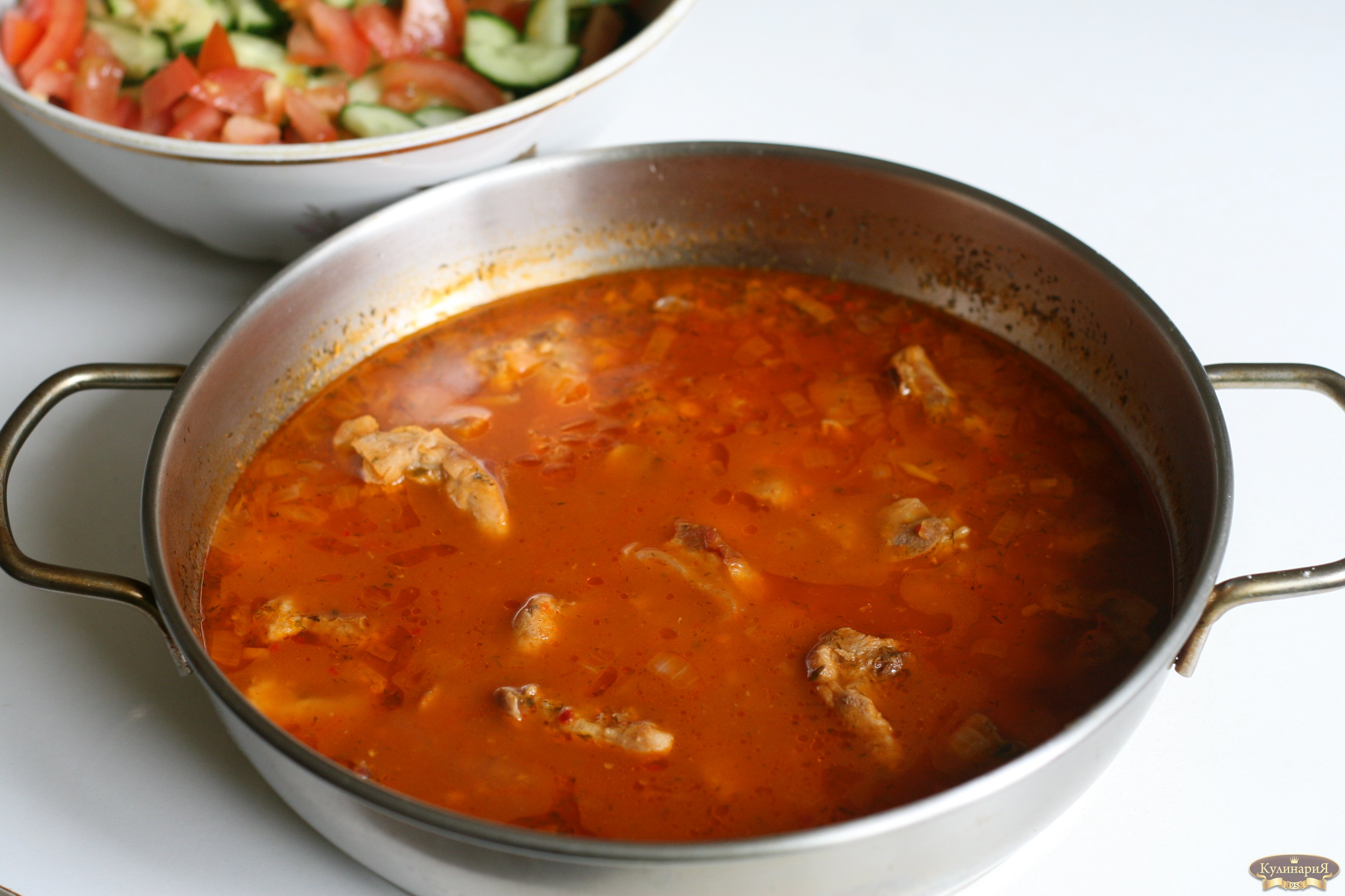 Подливка из свинины рецепт пошагово в сковороде с томатной пастой